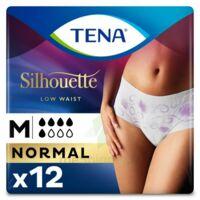 Tena Lady Silhouette Slip Absorbant Blanc Normal Médium Paquet/12 à SARROLA-CARCOPINO