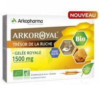 Arkoroyal Gelée Royale Bio Sans Sucre 1500mg Solution Buvable 20 Ampoules/10ml à SARROLA-CARCOPINO