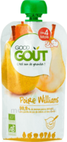 Good Goût Alimentation infantile poire williams Gourde/120g à SARROLA-CARCOPINO