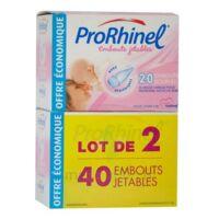 Prorhinel Lot De 2 X 20 Embouts Jetables Souples Pour Mouche Bébé à SARROLA-CARCOPINO