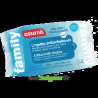 Assanis Family Lingette Antibactérien Mains Pochette/64 à SARROLA-CARCOPINO
