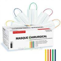 Masques Chirurgicaux Couleur Blanc Elastiques Colorés Boite De 50 à SARROLA-CARCOPINO
