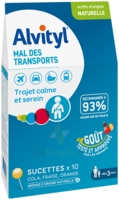 Alvityl Sucette Mal Des Transports B/10 à SARROLA-CARCOPINO