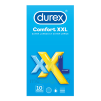Durex Comfort Xxl Préservatif Lubrifié B/10 à SARROLA-CARCOPINO